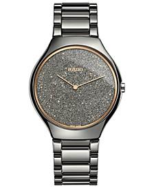 Women's Swiss True Thinline Plasma High-Tech Ceramic Bracelet Watch 39mm