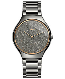 Rado Women's Swiss True Thinline Plasma High-Tech Ceramic Bracelet Watch 39mm