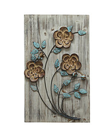 Stratton Home Decor Rustic Floral Panel I