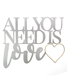 Stratton Home Decor All You Need is Love Metal Word Wall Decor