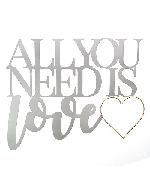 Stratton Home Decor Stratton Home Decor All You Need is Love Metal Word Wall Decor
