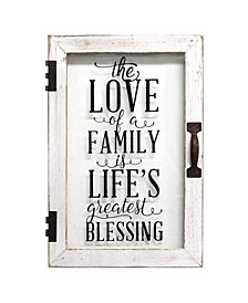 Stratton Home Decor Life's Blessings Printed Glass Decor
