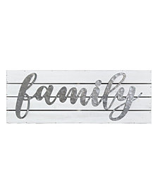 Stratton Home Decor Galvanized Family Planked Sign
