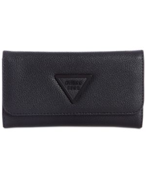 Lauri Boxed Slim Clutch Wallet, Black/Matte Black