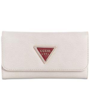 Lauri Boxed Slim Clutch Wallet, Chalk Multi/Gold