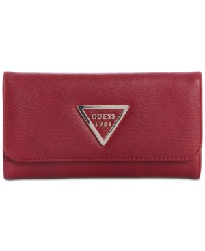 Lauri Boxed Slim Clutch Wallet, Red/Gold