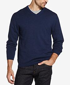 Weatherproof Vintage Men's Cotton Cashmere V-Neck Sweater