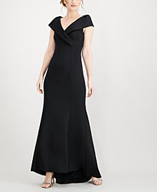 Jessica Howard Surplice Scuba Gown