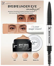 Receive a FREE Trial-Size Brow & Concealer Sampler with any $45 IT Cosmetics purchase