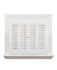 "Traditional Faux Wood Interior Shutter, 27-29""  W x 20"""