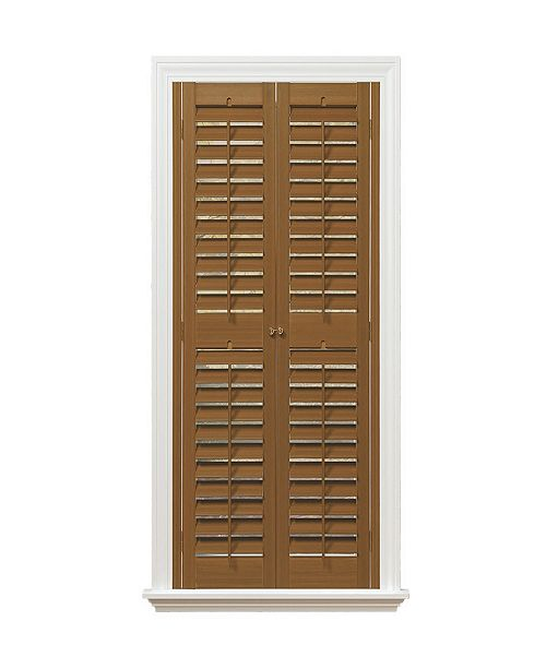 "US Shade & Shutter Plantation Faux Wood Interior Shutter, 39-41""  W x 54"""