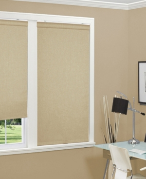 Cordless Linen Look Thermal Fabric Roller Shade, 72