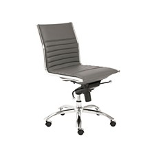 Dirk Leather Office Chair, Quick Ship