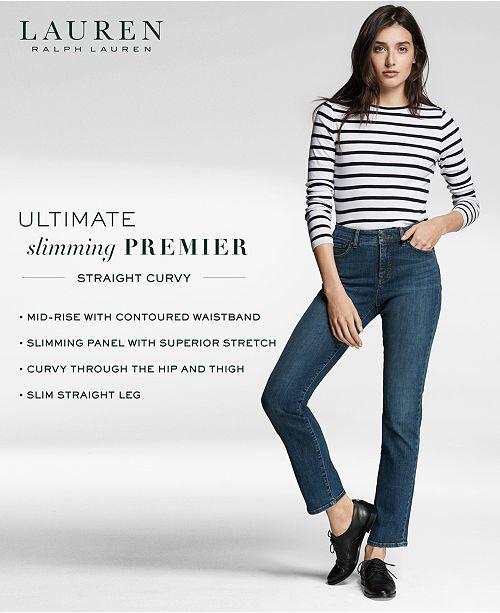 857c64f8e78 Lauren Ralph Lauren Ultimate Slimming Premier Straight Jeans - Jeans ...