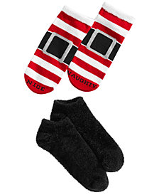 HUE® 2-Pk. Footsie Socks Gift Box