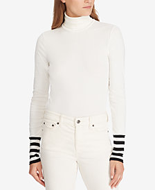 Lauren Ralph Lauren Striped Turtleneck Top