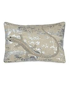 """Palm Lizard 8""""x12"""" Decorative Pillow"""