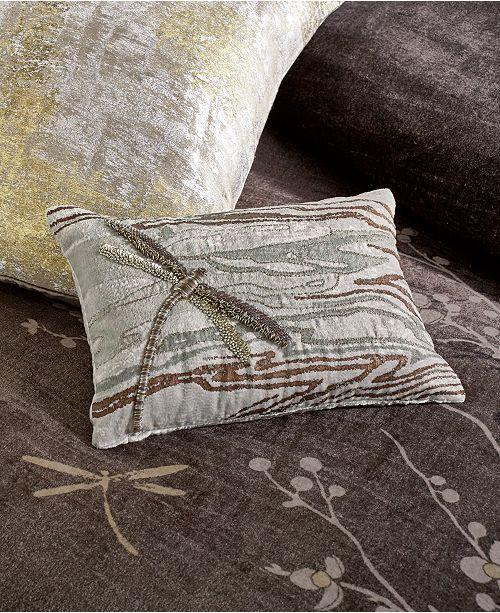"Michael Aram Dragonfly 8""x12"" Decorative Pillow"