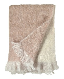 Blush Dip Dye Mohair Throw