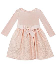 Rare Editions Baby Girls Textured Knit Brocade Dress