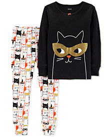 Carter's Baby Girls 2-Pc. Halloween Print Cotton Snug-Fit Pajamas Set