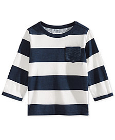 First Impressions Toddler Boys Rugby Striped Cotton Shirt, Created for Macy's