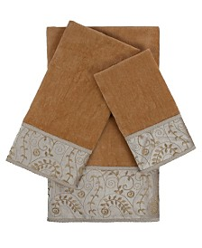 Sherry Kline Fern 3-piece Embellished Towel Set