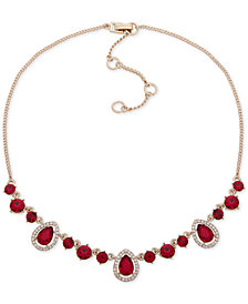 """Givenchy Stone & Crystal Collar Necklace, 16"""" + 3"""" extender"""