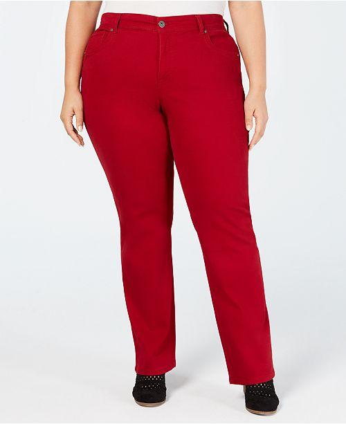 31028202eff Style   Co Plus   Petite Plus Size Tummy-Control Straight-Leg Jeans ...