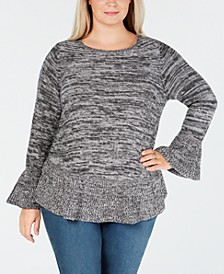 Plus Size Ruffled Sweater, Created for Macy's