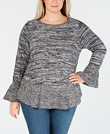 Style & Co Plus Size Ruffled Sweater, Created for Macy's