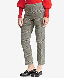 Ralph Lauren Petite Glen Plaid Skinny Pants