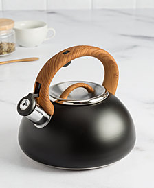 Goodful™ 2.5-Qt. Stainless Steel Whistling Kettle, Created for Macy's