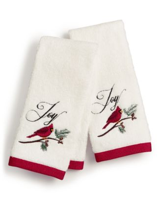 Cardinal Embroidered Cotton 2-Pc. Fingertip Towel Set, Created for Macy's