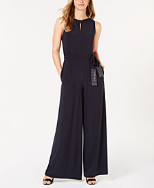 Tommy Hilfiger Crystal-Belt Jumpsuit