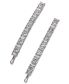 Danori Silver-Tone 2-Pc. Crystal Bobby Pin Set, Created for Macy's