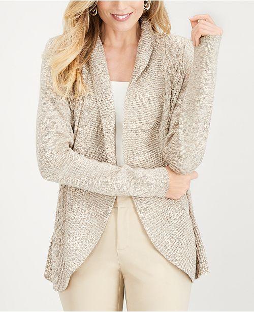 Karen Scott Cocoon Cardigan, Created for Macy's