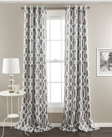 "Edward Trellis Print 52"" x 108"" Curtain Set"