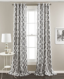 "Edward Trellis 108"" x 52 Room Darkening Window Curtain Set"