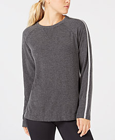 Calvin Klein Performance Metallic-Stripe Top