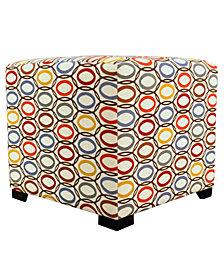 Merton CollVera 4-button Tufted Square Ottoman