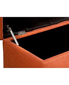 The Storage Secret Diamond Tufted CANDICE SEA-FOAM Linen Bench