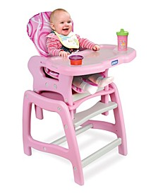 Baby Girl Envee Baby High Chair with Playtable Conversion