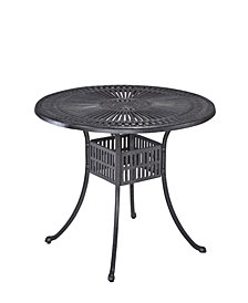 "Home Styles Largo 42"" Charcoal Round Outdoor Dining Table"