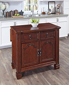 Home Styles Santiago Kitchen Island with Wood Top