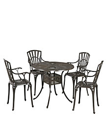 "Home Styles Largo 5PC Taupe Dining Set (42"" Table)"