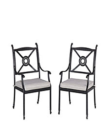 Home Styles Athens Arm Chairs with Cushion, Set of 2