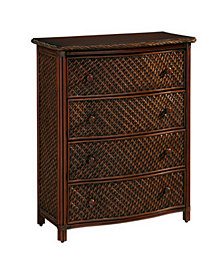 Home Styles Marco Island Drawer Chest Refined Cinnamon Finish