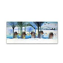 Oxana Ziaka 'Winter Hedgehogs' Canvas Art Collection