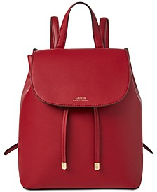 Dryden Flap Leather Backpack